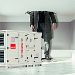 ClimaPac Compact-luchtbehandelingskasten met warmtepompen frame.