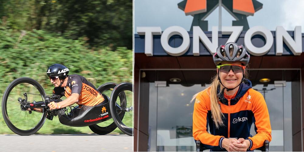 De sponsoring: Tonzon, Yara van Kerkhof en Johan Reekers