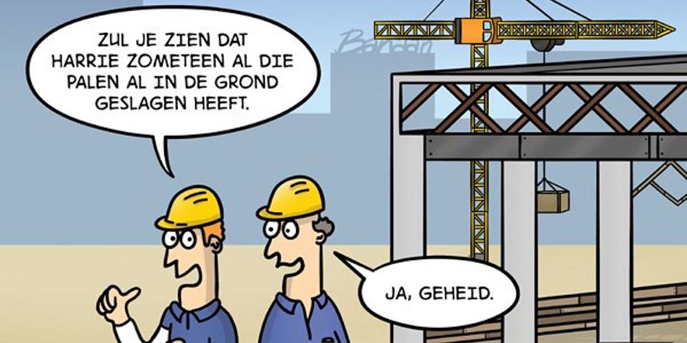 3x flauwe grappen over de bouw van Evert Kwok
