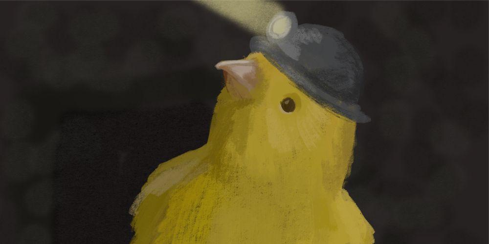 Ventileren tegen CO2 als de vogel tjilpt